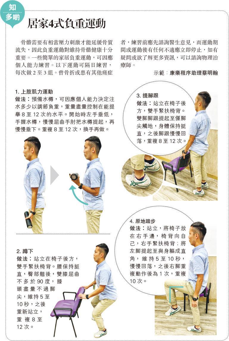 骨質疏鬆, 負重運動,