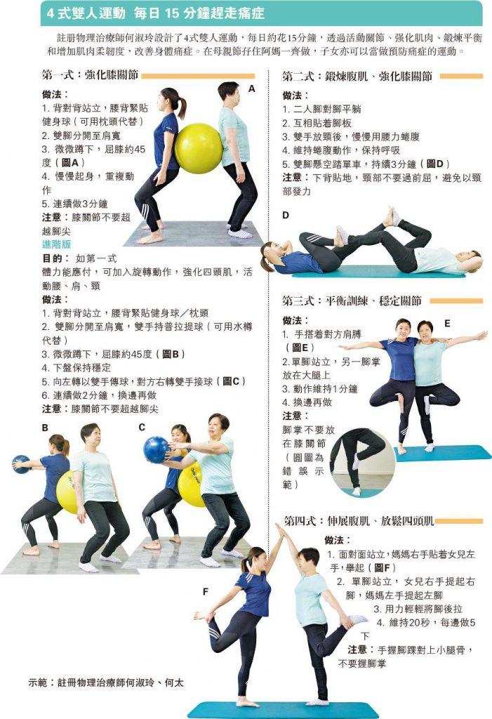 【健康運動】孖住阿媽做運動 母親節健康快樂+ 4式雙人運動 每日15分鐘趕走痛症
