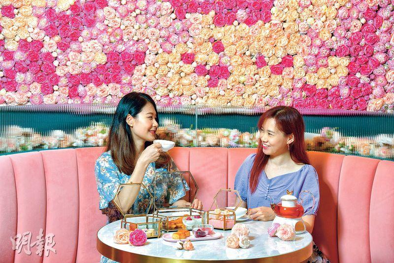 閨密相約談心不忘打卡 花海下午茶 「紅寶石」浪漫滿桌