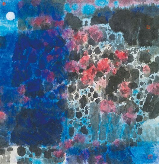 藝術家林天行 不安中繪畫 菖蒲寓意驅疫 水墨療癒心靈