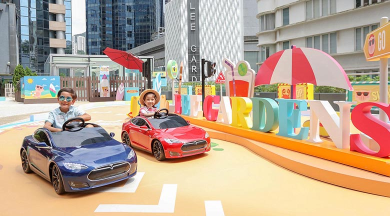 Tesla Junior Driving登陸利園區 小朋友感受駕駛樂趣