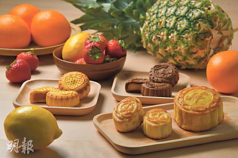 鳳梨草莓檸檬橙 酸甜解膩 奶黃月變奏 「果」真驚喜