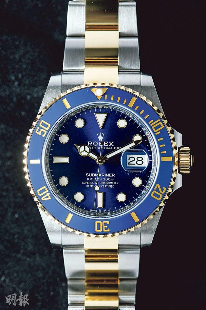 新一代41毫米潛水表王 黑色表盤 散發藍色夜光