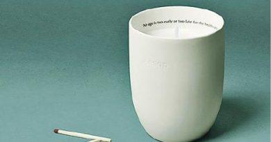 Aesop推出純素芳香蠟燭 排解日間煩憂