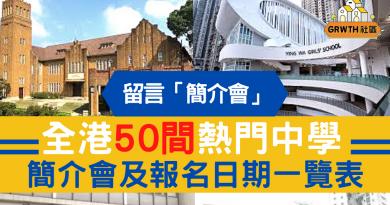 【升中錦囊】小六家長必睇!全港50間熱門中學 簡介會及報名日期一覽表
