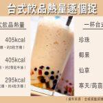 台式飲品熱量逐個捉 一杯珍奶等如5粒方糖 營養師:仙草寒天熱量較低 水果茶要選無糖