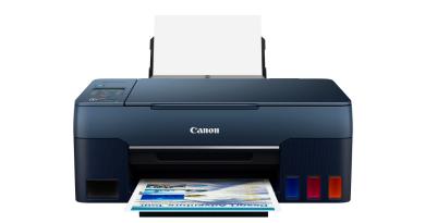 佳能全新加墨式多合一打印機PIXMA G3060 獨特深藍色機身 打造時尚家居學習空間