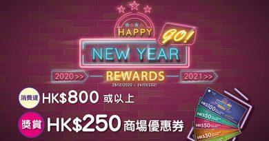 【2021農曆新年】iSQUARE國際廣場購物獎賞 送逾50萬元優惠券