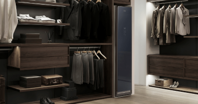 Samsung AirDresser丨智能衣櫃殺菌除臭 氣流「燙」衫一腳踢