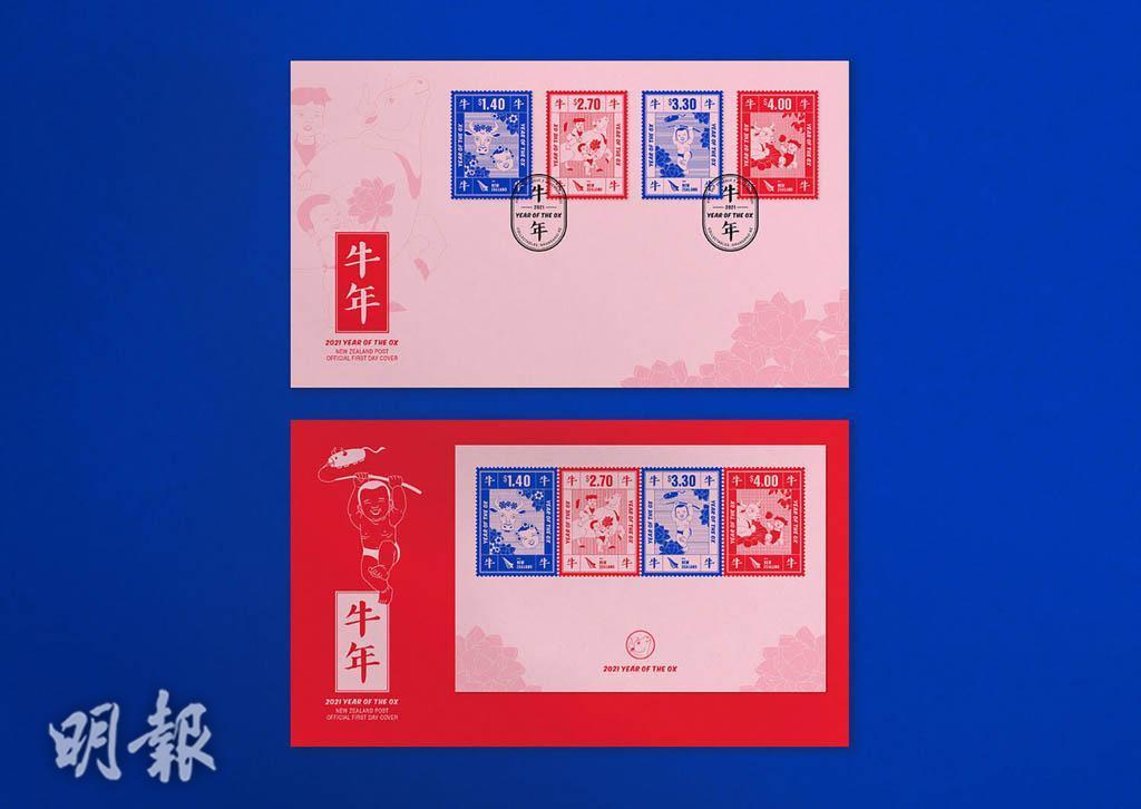 【迎牛年】全球集郵迷注意!不同設計演繹牛年郵票 共迎新歲寓意吉祥(多圖)