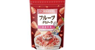 日清香甜草莓穀物麥片登場