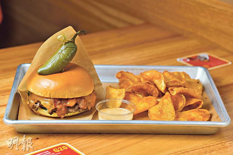 中環新店主打快速慢食 特選級牛漢堡配墨西哥辣椒 味覺「大爆炸」
