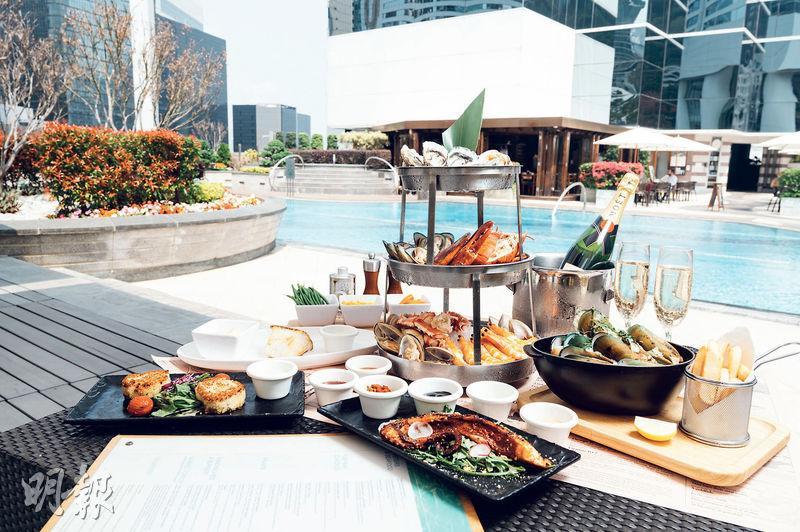 JW萬豪隱世池畔Fish Bar推限時優惠 凍海鮮拼盤加2小時任飲氣泡葡萄酒