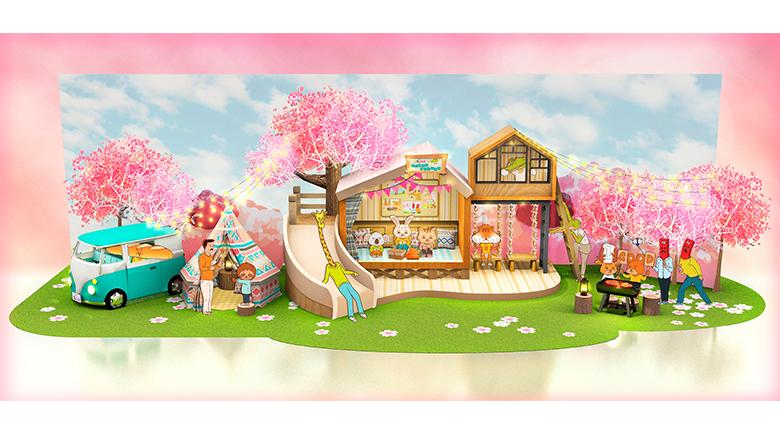 The ONE攜手日本插畫家Keigo<br>櫻花樹下開展Glamping之旅