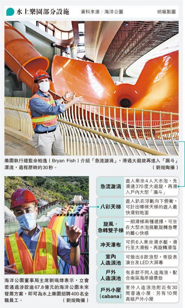 海洋公園水上樂園最快8月開幕 齊集12組水上遊樂設施 彩虹滑梯重現眼前