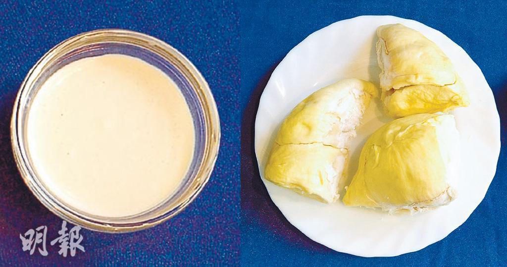 榴槤布丁 榴槤 食譜 榴槤甜品 脫脂奶 水果