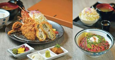 特選海產套餐 —— 包括炸廣島蠔、大海老及鰻魚。炸廣島蠔有驚喜,味道鮮香厚肉,大海老和鰻魚質素亦不俗。($208)(黃志東攝)