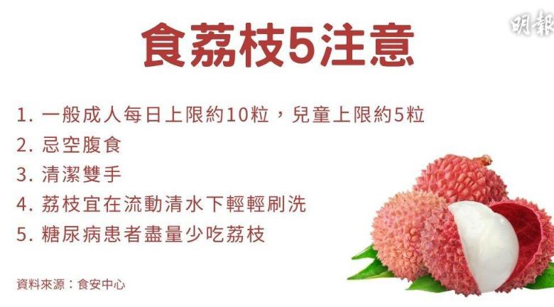【1粒荔枝3把火】食荔枝5件注意事項 勿空腹食、成人每日限食10粒