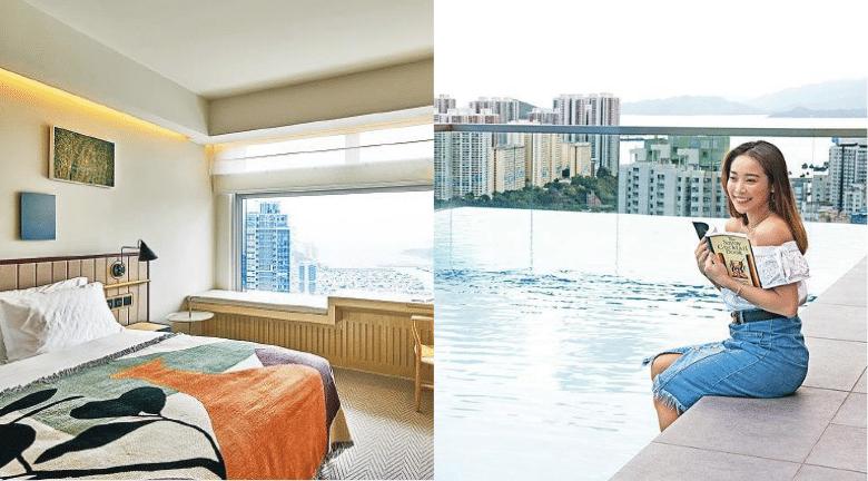 無邊際泳池——來到The Acra酒店頂樓露天無邊際泳池,能看到海景與無遮擋的寬闊天空,打卡效果不亞於五星級酒店泳池,當然要盡情「曬命」。(朱安妮攝)