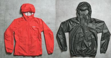 Berghaus的Women's Hyper 140 Shell Waterproof Jacket,用上品牌自家研製的防水透氣物料Hydroshell,以高效防水及透氣度高見稱。採用2.5層式設計,讓用家身體保持乾爽。($1790,a)(黃志東攝)英國品牌Montane的Unisex Podium Pull-On,只重115g,防水系數達15,000mm,可阻擋暴雨,適合在戶外訓練用。($1290,a)(黃志東攝)