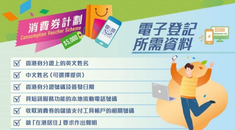 電子消費券登記流程一覽(非用「智方便」登記方法)