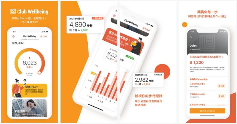 行路賺獎賞!The Club推出全新Club Wellbeing app 記錄步數輕鬆賺積分