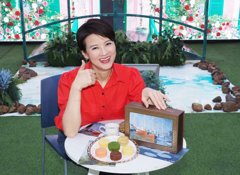 法國印象派大師莫奈畫作為主題 黎燕珊擔任Monet月餅宣傳大使