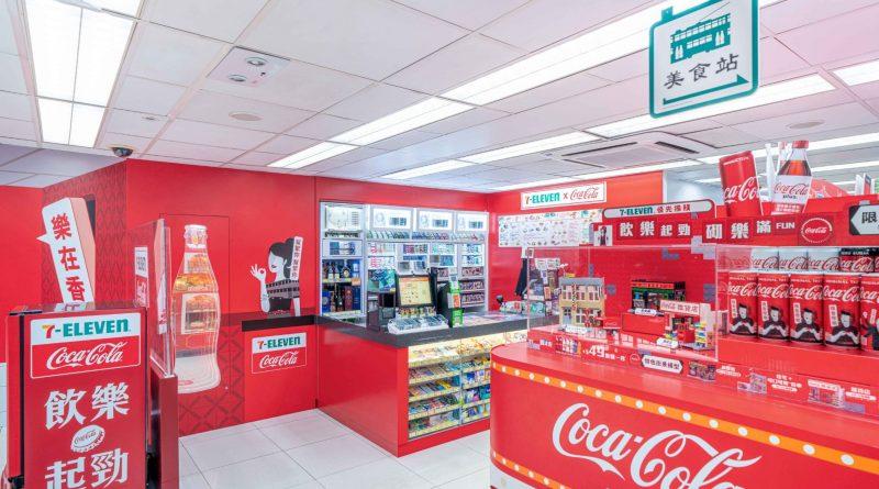 期間限定「7-Eleven x可口可樂」茶餐廳積木模型