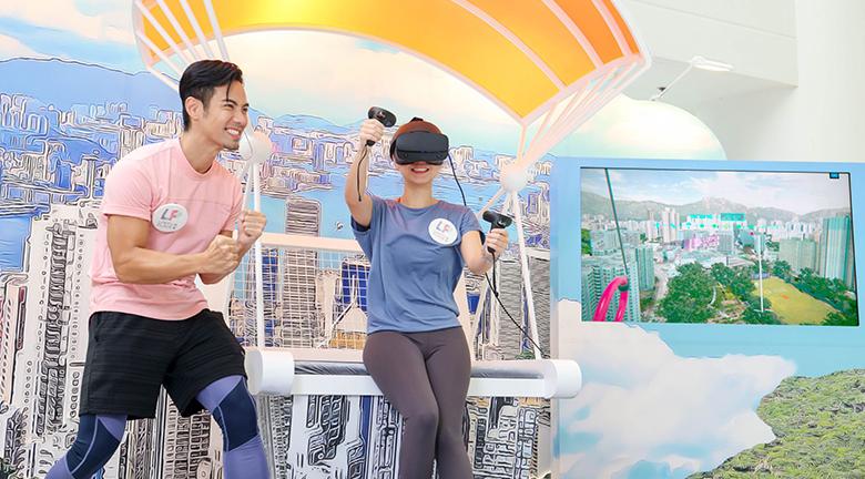 樂富廣場SPORTIVAL運動嘉年華<br>VR跳傘體驗飛越香港鬧市