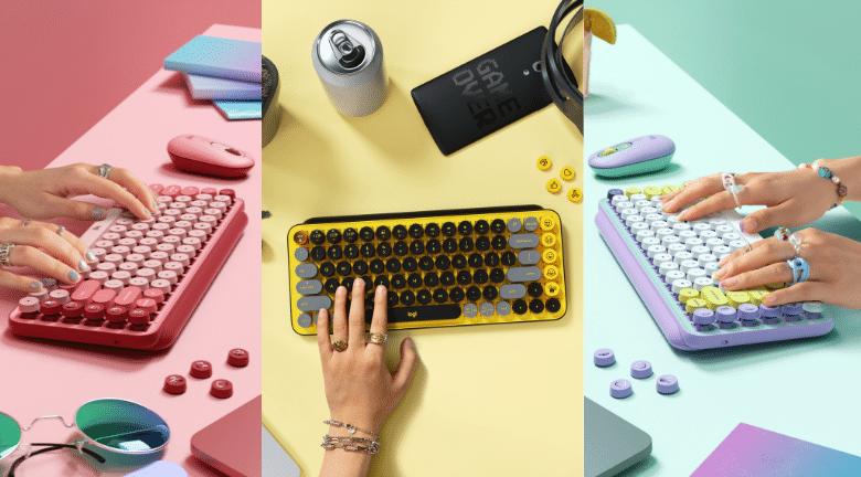 Logitech POP KEYS 無線藍牙機械鍵盤耀眼登場 全球首創可更換EMOJI表情符號鍵帽 顛覆想像大膽表態