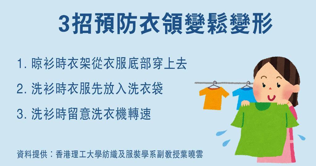T恤領口易變形?洗衫、晾衫有秘訣 3招防衣領變形變鬆