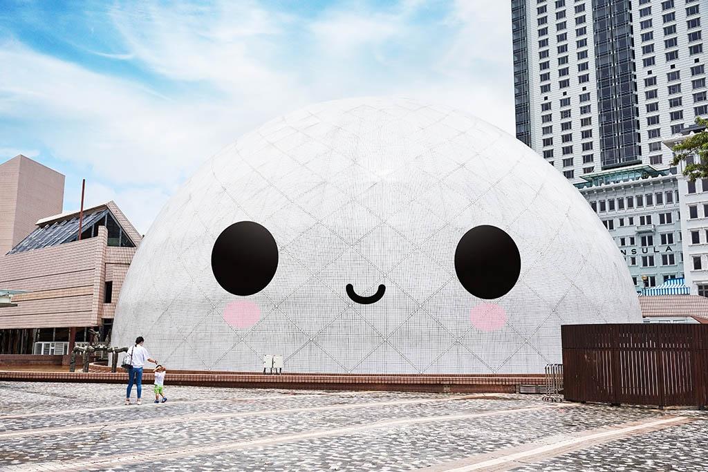 香港太空館笑笑口?係FriendsWithYou充氣裝置!西九文化區藝術公園變身打卡潮點
