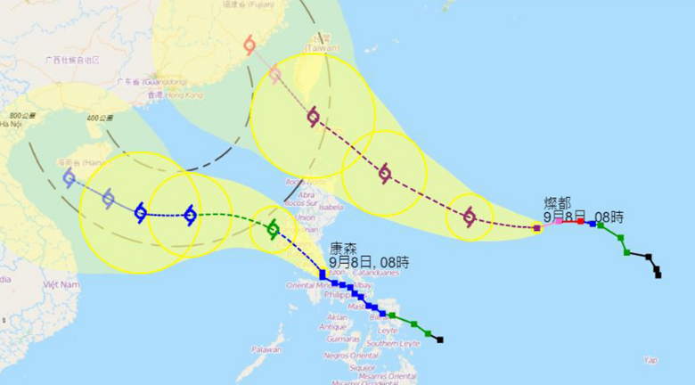 颱風康森殺到!天文台明考慮掛一號波 周五或有狂風驟雨