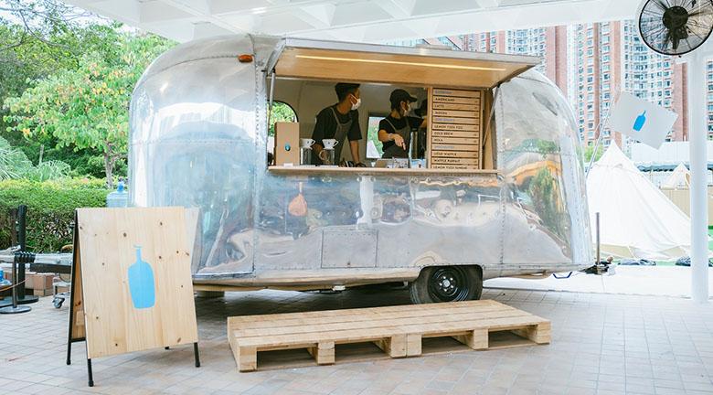 Blue Bottle Coffee沙田限定咖啡店<br>主寵同享戶外露營樂